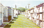 Click here to enlarge image and see more about item p1974: New Orleans LA Old St Louis Cemetery Postcard