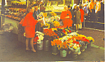 Click here to enlarge image and see more about item p19772: Flower Stand Cable Car San Francisco California p19772