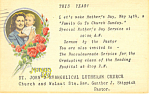 Click here to enlarge image and see more about item p19792: Mother's Day Special Service St John's ELCA