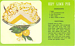 Click here to enlarge image and see more about item p19793: Key Lime Pie Recipe