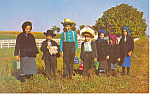 Amish School Children Postcard p19829