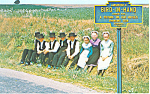 Amish School Children near Bird in Hand Sign p19830