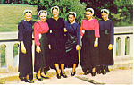 Amish Girls in Sunday Dress Postcard p19834