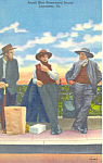 Amish Men Homeward Bound Postcard p19839