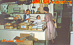 Amish Markets,PA interior Postcard p19843