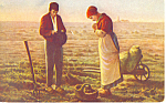 The Angelus Jean Francois Millet Postcard p19852