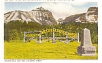 Click here to enlarge image and see more about item p1988: Continental Divide Canada Postcard p1988