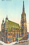 Click here to enlarge image and see more about item p19900: Stefanskirche Vienna Austria p19900