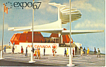 Click here to enlarge image and see more about item p19935: Expo 67 Air Canada Pavilion Postcard p19935