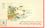 Click here to enlarge image and see more about item p19951: Christmas Card with Hunting Scene p19951
