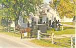 Mennonite Carriage at Church Postcard p19981