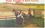 Amish Family Buggy and PA Turnpike Postcard p19986