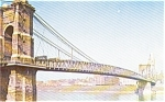Click here to enlarge image and see more about item p2000: Cincinnati OH Suspension Bridge Postcard