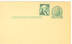 Click here to enlarge image and see more about item p20021: UX27 1 Cent Green Jefferson Postal Card