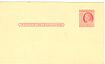 Click here to enlarge image and see more about item p20026: UX38 2 Cent Carmine Rose Franklin Postal Card