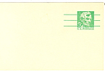 Click here to enlarge image and see more about item p20027: UX55 5 Cent emerald Lincoln Postal Card