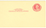 Click here to enlarge image and see more about item p20034:  2 Cent red Martha Washington Reply Postal Card