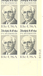 Click here to enlarge image and see more about item p20041: #1700, 13 cent Adolph S. Ochs Plate Block