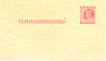 UX38, 2 Cent carmine rose Franklin Postal Card