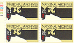 Click here to enlarge image and see more about item p20047: #2081, 20 cent National Archives Plate Block