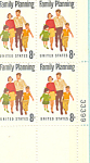 Click here to enlarge image and see more about item p20051: #1455  8 Cent Family Planning Plate Block