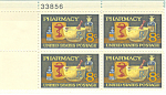 Click here to enlarge image and see more about item p20052: #1473  8 Cent Pharmacy Plate Block