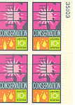 Click here to enlarge image and see more about item p20057: #1547 10 Cent Energy Conservation Plate Block