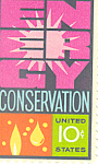 Click here to enlarge image and see more about item p20058: #1547 10 cent Energy Conservation Single Uncirc