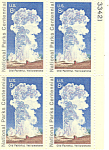 Click here to enlarge image and see more about item p20068: #1453 -  8 Cent Old Faithful Yellowstone Plate Block