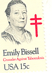 Click here to enlarge image and see more about item p20074: #1823 -  15 Cent Emily Bissel Single Uncirculated