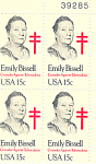 Click here to enlarge image and see more about item p20075: #1823 -  15 Cent Emily Bissel  Plate Block