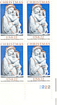 Click here to enlarge image and see more about item p20076: #2165 -  22 Cent Genoa Madonna  Plate Block
