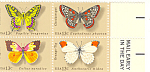 Click here to enlarge image and see more about item p20079: #1715a -  13 Cent Butterfly Mail Early Block