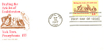 Click here to enlarge image and see more about item p20083: 1726-13 cent Articles of Confederation FDC Cachet