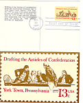 Click here to enlarge image and see more about item p20086: #1726-13 cent Articles of Confederation FDC Post Card