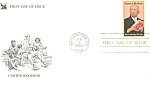 Click here to enlarge image and see more about item p20095: #2073-20 cent Carter G Woodson FDC Cachet
