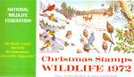 Click here to enlarge image and see more about item p20155: 1972 National Wildlife Federation Christmas Stamps