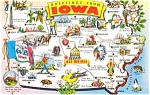 Click here to enlarge image and see more about item p2069: Iowa State Map  Postcard
