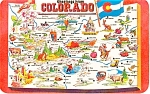 Click here to enlarge image and see more about item p2078: Colorado State Map   Postcard