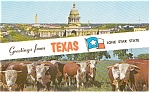 Greetings From Texas Postcard p2096