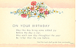 Click here to enlarge image and see more about item p21035: On Your Birthday, Isaiah 58:11