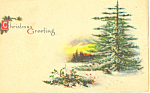 Christmas Greeting Postcard p21066