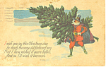 I Wish you Joy this Christmas Day Postcard p21068