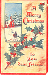 A Merry Christmas to you Dear Friend Postcard p21069