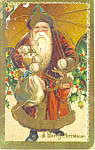 Old Time Santa Postcard p21071
