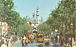 Disneyland Main Street  United Airlines Postcard p21103