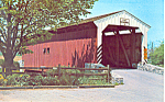 Covered Bridge Dutch Country PA Postcard p21104