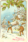 Click here to enlarge image and see more about item p21114: Prosit Neu-Jahr! New Years Postcard p21114