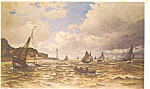 Mouth of the Seine at Honfleur Claude Monet Postcard p21117