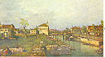 Portello and the Brenta Canaletto Postcard p21131
